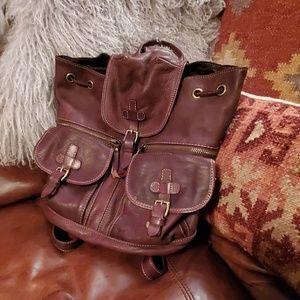 SUNDANCE medium size leather backpack